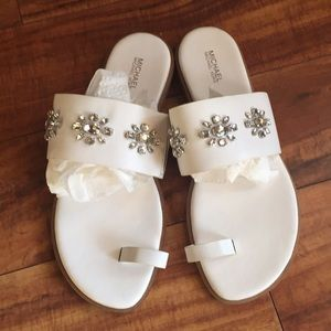 Michael Kors size 9 1/2 white leather New